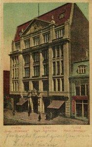 poland, ŁÓDŹ LODZ, House Siemens (1915) Postcard