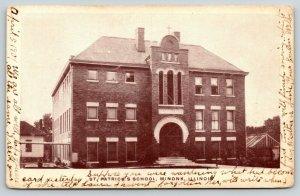 Minonk Illinois~St Patrick's Catholic Grade School~Green House~Evelyn Welby~1907