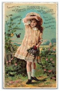 Flower Girl, Hoyt's German Cologne, Rubifoam for Teeth, Victorian Trade Card