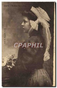 Old Postcard Folklore Bonnet Briochin