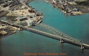 DUBUQUE, Iowa, 1950-60s; Julien Dubuque Bridge