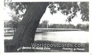 Portage La Prairie, Manitoba Canada, du Canada Paul's Bridge to Island Park P...