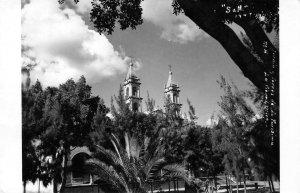 RPPC Jardin Torres de La Purisima La Piedad, Mich., Mexico 1949 Vintage Postcard