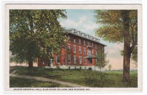 Blue Ridge College New Windsor Maryland 1920c postcard