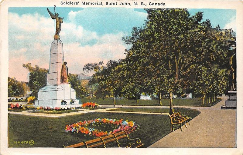B4892 Soldiers Memorial Saint John   front/back scan