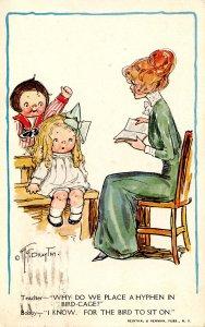Teacher and Children.  Artist: G. G. Drayton (Wiederseim)