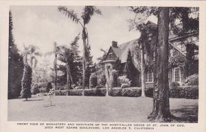 California Los Angeles Front View Of Monastery And Novitiate Of the Order Of ...