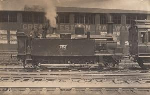 GWR 834 Train Paddington Railway Station Pears Soap Poster & Driver Real Phot...
