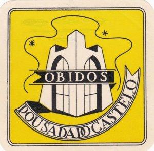 Portugal Obidos Pousada Do Castelo Luggage Label sk4606