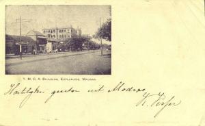 india, MADRAS, Y.M.C.A. Building Esplanade, YMCA (1903) Court Card
