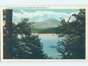 Unused W-Border LAKE SCENE Adirondacks - Lake Placid New York NY F3662