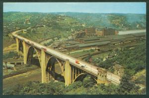 Westinghouse Bridge PITTSBURGH PA Pennsylvania US Highway 30 Postcard