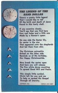 The Legend of the Sand Dollar, 1954 unused Postcard