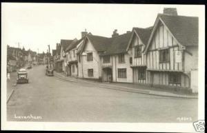 suffolk, LAVENHAM, High Street, Water Street 1950s RPPC