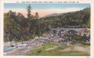 Georgia Clayton Saw Tooth Bridge Over Tiger Creek