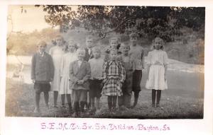 Dayton IA 5th Ward 5th Grade by Skillet Creek~Boy w/Missing Hand/Arm? RPPC c1915