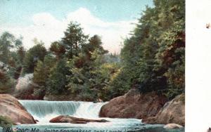 Bangor, Maine, ME, On the Kenduskeag, near Lovers Leap, Vintage Postcard g652