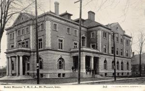 Mt Mount Pleasant IA Seeley YMCA Young Men's Christian Association~1908 Williams