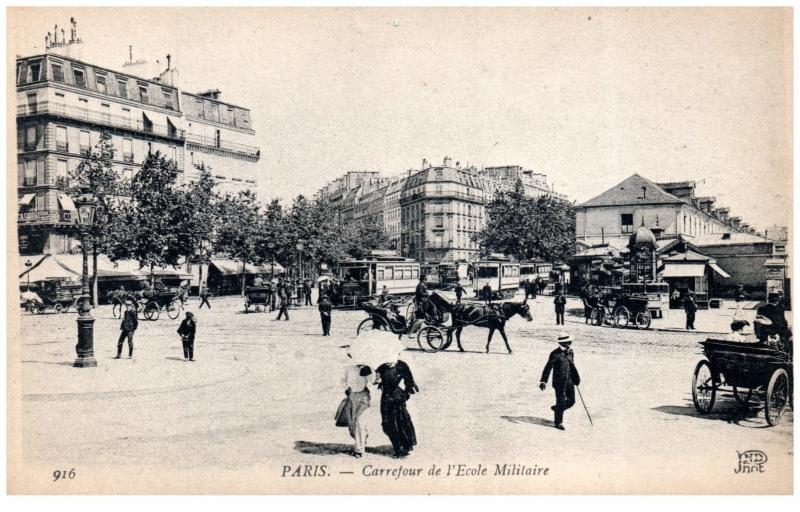 France Paris Carrefour de l´Ecole Militaire