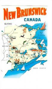 Map, The Province Of New Brunswick, Canada, 1940-1960s