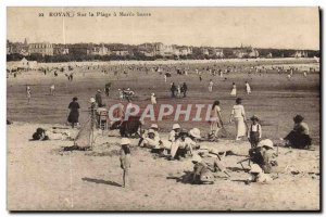 Old Postcard Royan On the Beach has Low Maree
