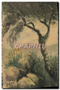 Old Postcard Fancy (drawing hand) Tree