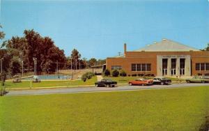 Anderson South Carolina~Anderson Recreation Center~NICE 1950s Cars~Postcard