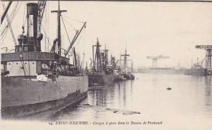 Boats, Cargos A Quai Dans Le Bassin De Penbouet, Saint-Nazaire (Loire Atlanti...