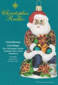 Christopher Radko Christmas , Niles , Illinois , 2000 ; Santa Claus