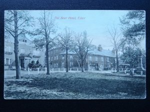 London Surrey ESHER The Bear Hotel, Shop & Statue c1905 Postcard by A.S. Series