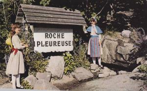 Hotel-Motel de la Roche Pleureuse, Cte.  Charlevoix. Quebec, Canada,  PU_1989