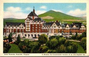 Virginia Roanoke Hotel Roanoke 1939