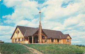Waupaca Wisconsin~Log Pine Chapel~United Lutheran Camp~Pine Lake~1953 Postcard