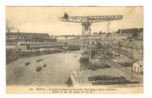 Le Port De Guerre Et La Grue Electrique, Force 150 Tonnes Haut, 57 m. 50, lon...