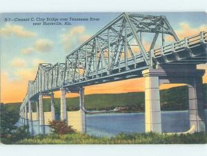 Unused Linen BRIDGE SCENE Huntsville Alabama AL H8151