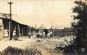 Cuba Small Town View Buildings Real Photo Postcard