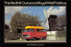 Postcard 1979 FDI Redhill to Outwood Royal Mail Postbus Windmill Dodge MINT 29X