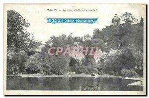 Old Postcard Lake Paris Buttes Chaumont Paris Chocolate Guerin Boutron
