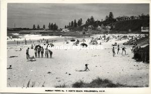 australia, WOLLONGONG, N.S.W., North Beach (1950s) Murray Views RPPC