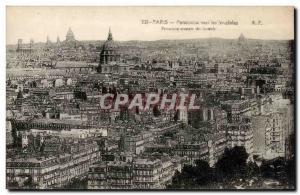 Paris Old Postcard Panorama towards the Invalides