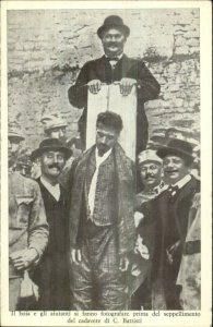 MaCabre Dead Man Public Execution Italy C. BATTISTI Vintage Postcard