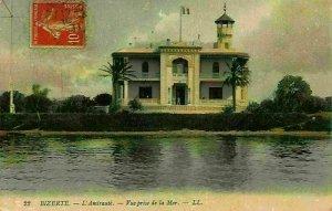 Tunisia Bizerte L'Amioraute Vue Prise de la Mer Postcard