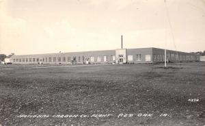 Red Oak Iowa~Panoramic View of the National Carbon Company Grounds RPPC 1940s
