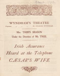 Caesars Wife Irish Telephone First Shakespeare Drama King Lear Film In Histor...