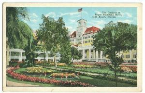 The Gardens at Royal Poinciana Hotel, Palm Beach, Florida, 1910s-1920s Postcard
