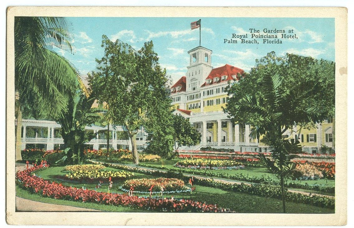 The Gardens at Royal Poinciana Hotel, Palm Beach, Florida, 1910s ...