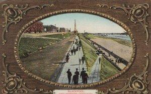 Lancashire Postcard - Blackpool, North Promenade Looking South   RS24345
