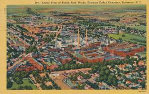 Aerial View of Eastman Kodak Park, Rochester, New York - pm 1953 - Linen