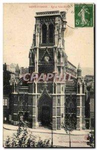 Saint Etienne Old Postcard Church of St. Roch