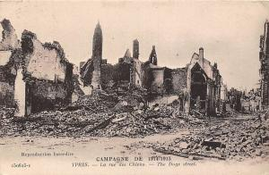 Belgium Ypres La rue des Chiens The Dogs Street Ruins Houses